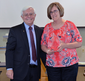 Cheryl Rojas received the Dean's Impact Award presented to a member of the staff.