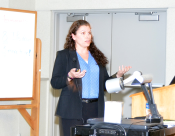 Emily Pieracci, DVM, of the Centers for Disease Control presented the keynote lecture during the CVM Research Day.