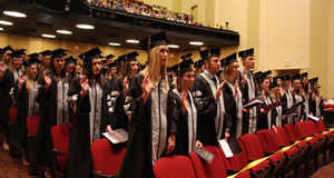 The CVM Class of 2016 recites the Veterinarian's Oath.
