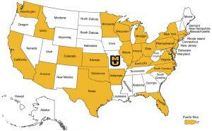 Class of 2022 Non-Missouri Students States of Residence