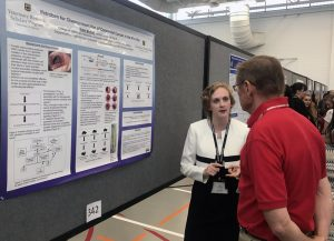 """Katie Molind, a member of the CVM Class of 2021, discussed her VRSP research project, """"Ifetroban for Chemoprevention of Colorectal Cancer in the Pirc Rat,"""" during the National NIH-Boehringer Ingelheim Symposium."""