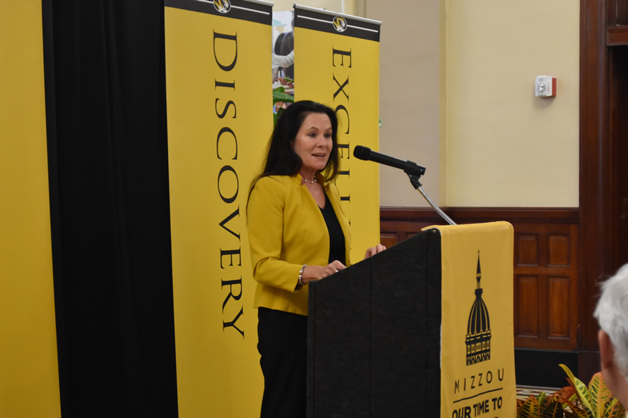 Elizabeth Loboa, dean of the College of Engineering, spoke about how Major General Jack N. Donohew Fund for Diversity and Inclusion in Engineering will support the next generation of Mizzou engineers.