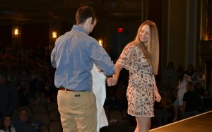 Courtney Banzinger received her white coat from her fiancé, Mark Robertshaw.