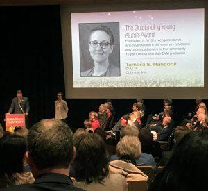 Hancock Named Outstanding Young Alumna