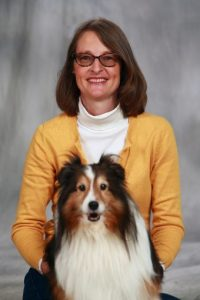 Gretchen Carlisle, a research scientist with the Research Center for Human-Animal Interaction in the MU College of Veterinary Medicine, and Mira.
