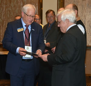 CVM Dean Neil C. Olson was named a Lifetime Member of MVMA during the organization's annual convention.