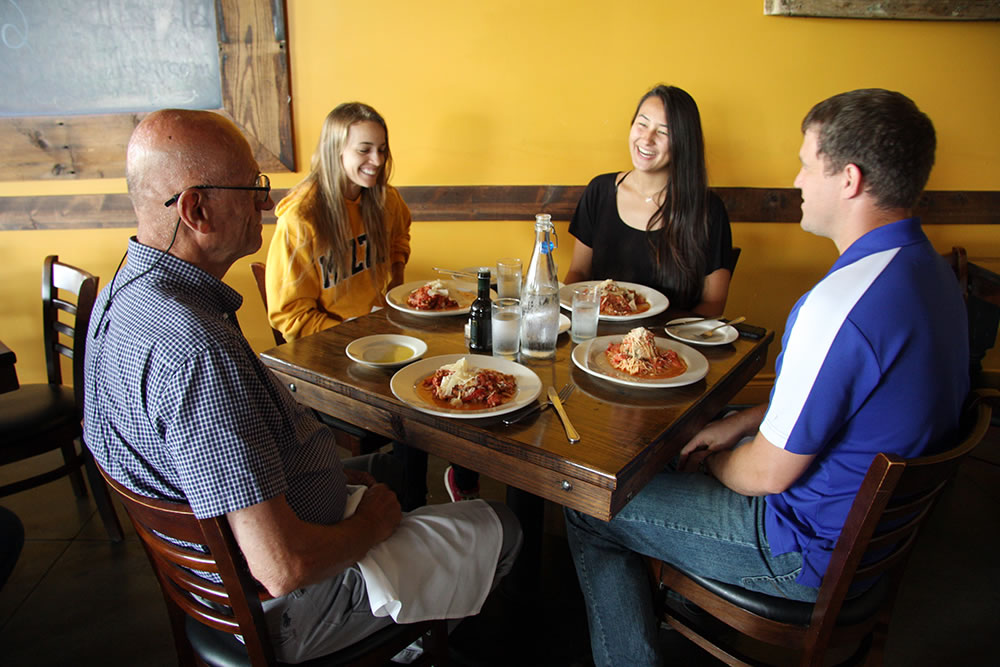 The Rottinghaus lab staff lunches together every Wednesday at a different eatery.