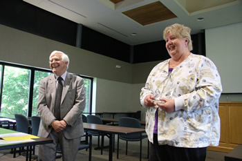 Debbie Tate was the recipient of the Dean's Impact Award presented to a staff member.