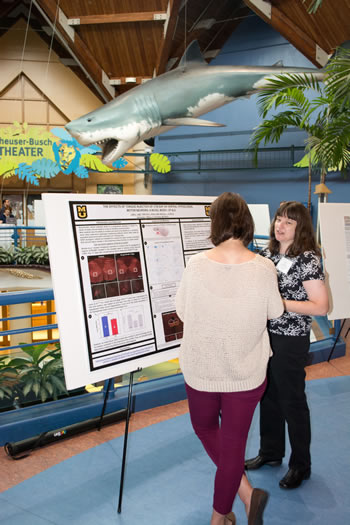 Lori Lind's research poster involving amyotrophic lateral sclerosis received runner-up honors during the student poster contest.
