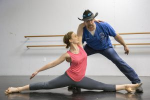 CVM Associate Teaching Professor of Food Animal Medicine and Surgery Loren Schultz is paired with professional dancer Nicole Bell, who also teaches dance at Schultz' daughter's school, for this year's Dancing with Missouri Stars.