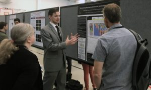 VM-2 student Andrew Reid was one of 13 CVM students who presented their VRSP projects following months of preparation and hands-on research in their mentors' labs.