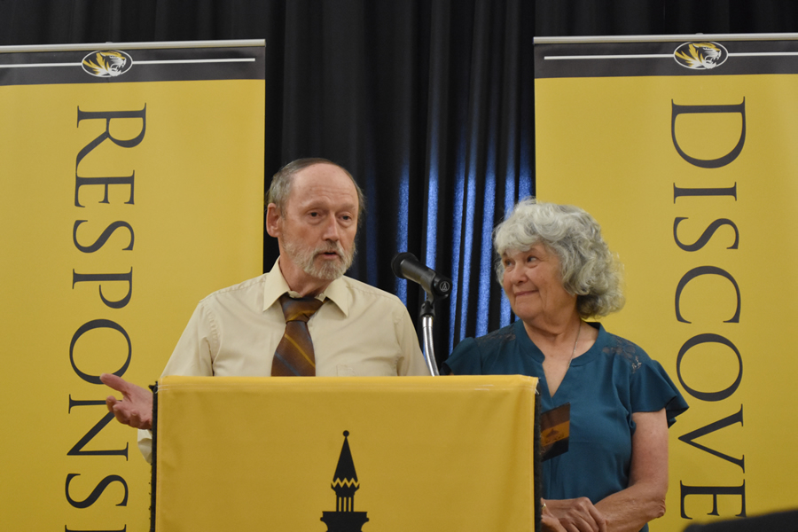 Mizzou alumnus, Ken Donohew, and his wife, Ellen Kippel, announced two gifts totaling $1.7 million. The gifts will honor Donohew's father and uncle.