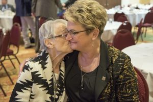 CVM Dean Carolyn Henry thanked her mother, Billie Henry, during the MVMA Academy luncheon.